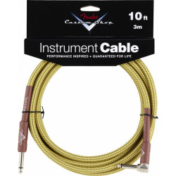 FENDER CUSTOM SHOP PERFORMANCE CABLE 10' ANGLED TW