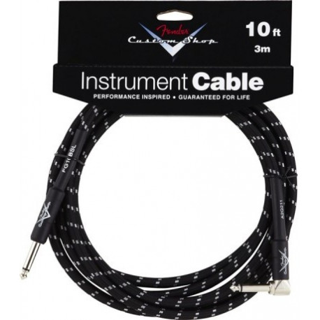 FENDER CUSTOM SHOP PERFORMANCE CABLE 10' ANGLED BTW
