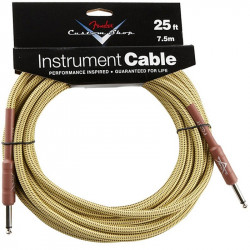 FENDER CUSTOM SHOP PERFORMANCE CABLE 25' TW
